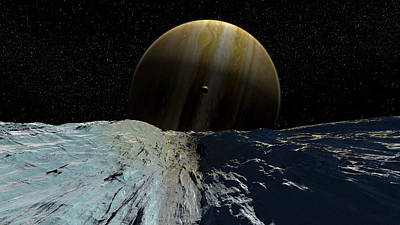 Photograph - The Smooth Ice Field Of Europa by Steven Hobbs