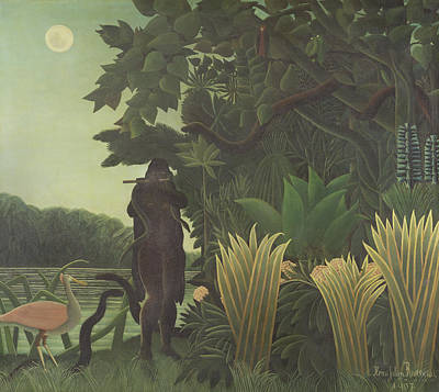 Spoonbill Wall Art - Photograph - The Snake Charmer, 1907 La Charmeuse De Serpents Oil On Canvas by Henri J.F. Rousseau