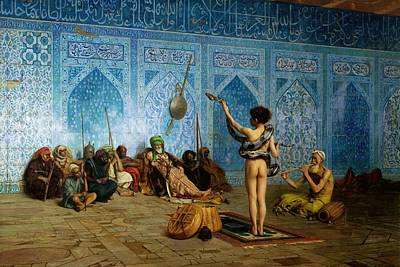 Snake Charmer Painting - The Snake Charmer by Jean-Leon Gerome
