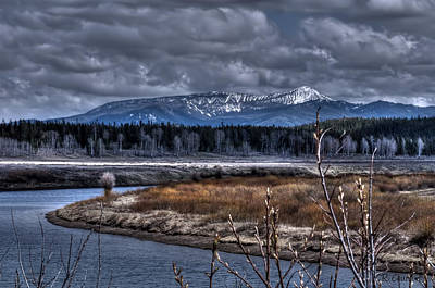 Photograph - The Snake River At Oxbow Bend by CR  Courson