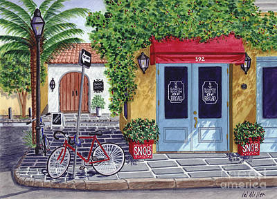 Painting - The Snob Restaurant by Val Miller