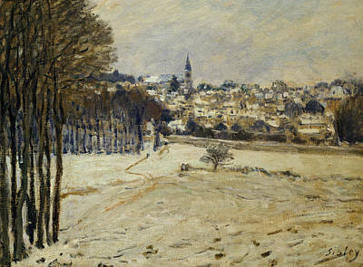 The Snow At Marly-le-roi Art Print