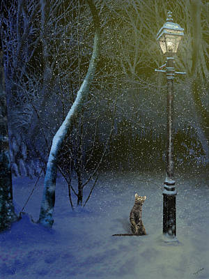 Digital Art - The Snow Cat by Nigel Follett