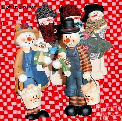 Photograph - The Snow Man Collection by Janette Boyd