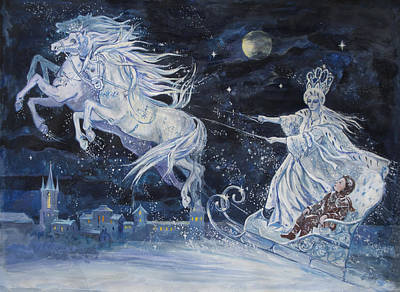 Tale Painting - The Snow Queen by Elena Ringo