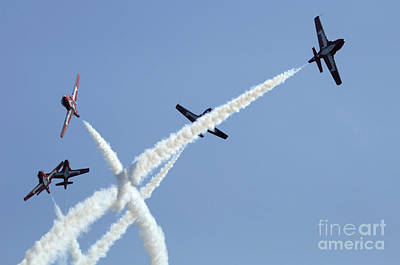 Photograph - The Snowbirds At High Speed by Bob Christopher
