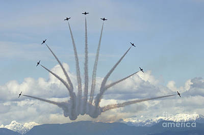 The Snowbirds In High Gear Art Print by Bob Christopher