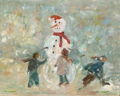 The Snowman Art Print by David Dossett