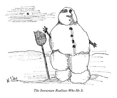The Snowman Realizes Who He Is Art Print
