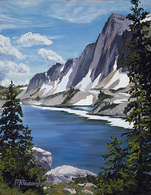 Wyoming Painting - The Snowy Range by Mary Giacomini