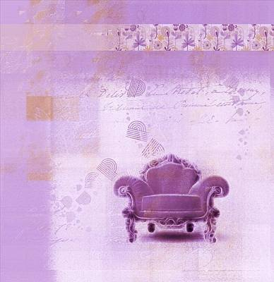 Chairs Digital Art - The Sofa Chair - S03mv01 by Variance Collections