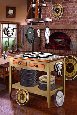 Desk Digital Art - The Soft Clock Shop 2 by Mike McGlothlen