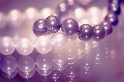 Black Pearls Photograph - The Soft Glow Of Pearls by Jenny Rainbow