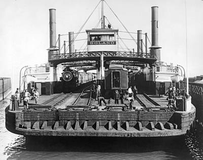 Photograph - The Solano Ferry by Underwood Archives