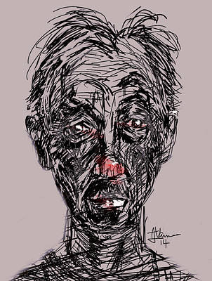 Digital Art - The Sombre Side Of Sober by Jim Vance