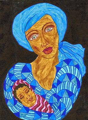 African American. Folk Art Painting - The Son Of Mary by Stacey Torres