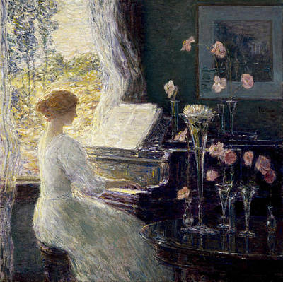 Childe Photograph - The Sonata by Childe Hassam