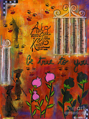 Mixed Media - The Song Of Our Belief by Angela L Walker