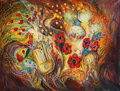 Amulets Painting - The Song Of Red Rooster by Elena Kotliarker