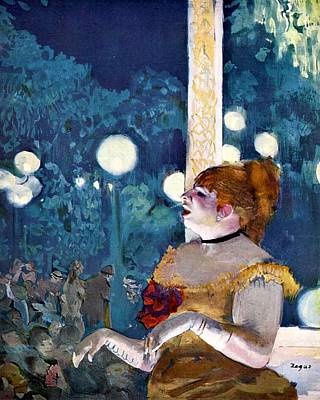 New Song Painting - The Song Of The Dog by Edgar Degas