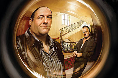 Movie Art Mixed Media - The Sopranos  Artwork 1 by Sheraz A