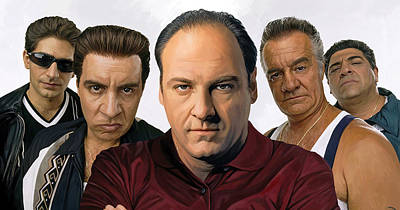 Movie Art Mixed Media - The Sopranos  Artwork 2 by Sheraz A