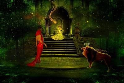 The Sorceress Art Print by Amanda Struz