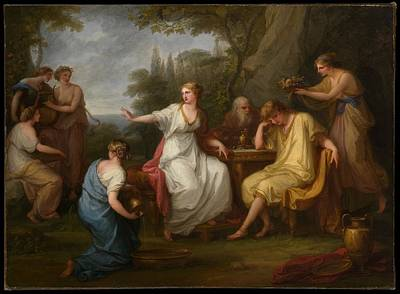 Angelica Painting - The Sorrow Of Telemachus by Angelica Kauffmann