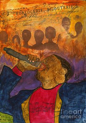 Mixed Media - The Soul Singer by Angela L Walker