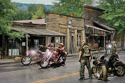 Sons Of Anarchy Digital Art - The Sound Of Thunder As They Gathered .... by Rat Rod Studios