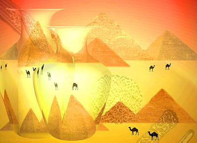 Friendly Digital Art - The Sounds Of The Desert by Joyce Dickens