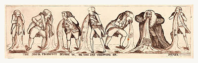 Sour Drawing - The Sour Prospect Before Us, Or The Ins Throwing Up State by English School