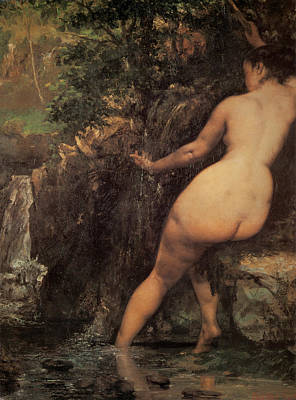 Sources Digital Art - The Source by Gustave  Courbet