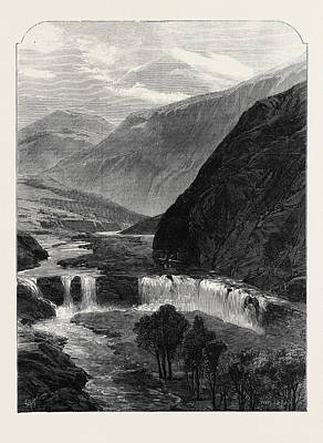 Jordan Drawing - The Source Of The Jordan 1869 by English School