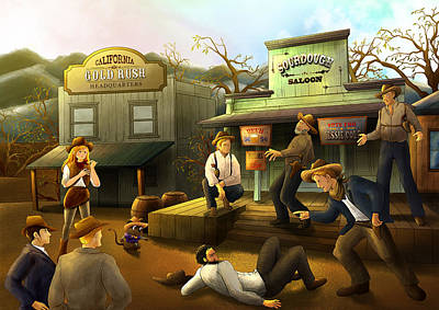 Painting - The Sourdough Saloon by Reynold Jay