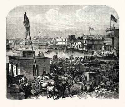 South American Drawing - The South American War View Of The Inner Port Of Callao by American School