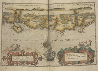 Cartography Photograph - The South Coast Of England by British Library