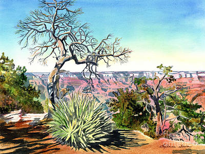 Painting - The South Rim Of The Grand Canyon by LeAnne Sowa
