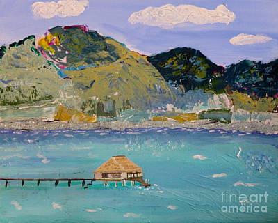 Art Print featuring the painting The South Seas by Phyllis Kaltenbach