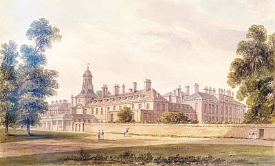 Hyde Park Photograph - The South-west View Of Kensington Palace, 1826 Wc On Paper by John Buckler