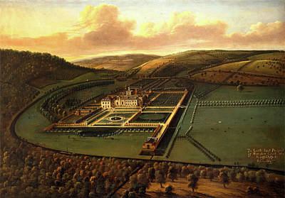 The Southeast Prospect Of Hampton Court, Herefordshire Art Print by Litz Collection
