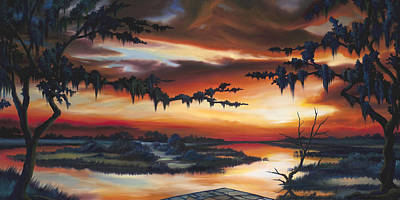 Marsh Grass Painting - The Southern Marsh by James Christopher Hill