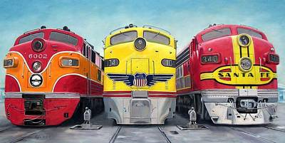 The Southern The Union And The Santa Fe Original by RB McGrath
