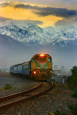 The Southerner Train New Zealand Art Print