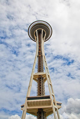 Seattle Photograph - The Space Needle II- Seattle Washington by David Patterson