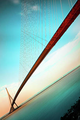 Seine River Wall Art - Photograph - The Span by Christophe Kiciak