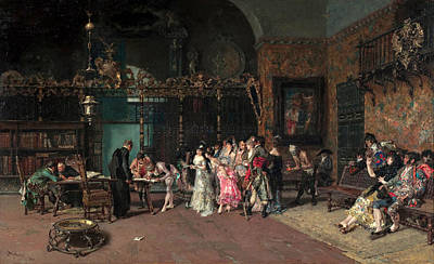 Mariano Fortuny Painting - The Spanish Wedding by Mariano Fortuny