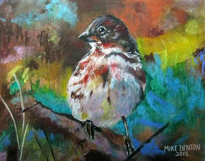 Pastel - The Sparrow by Mike Benton