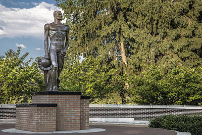The Spartan Statue At Msu Art Print by John McGraw