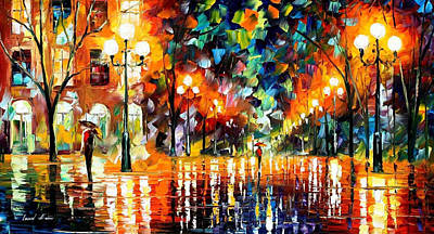 The Spectrum For Happiness - Palette Knife Oil Painting On Canvas By Leonid Afremov Original by Leonid Afremov